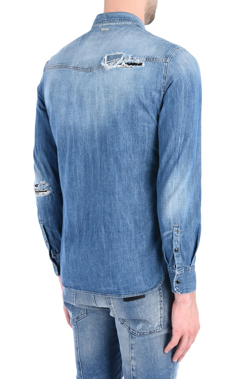 JUST CAVALLI Denim shirt Denim shirt [*** pickupInStoreShippingNotGuaranteed_info ***] d