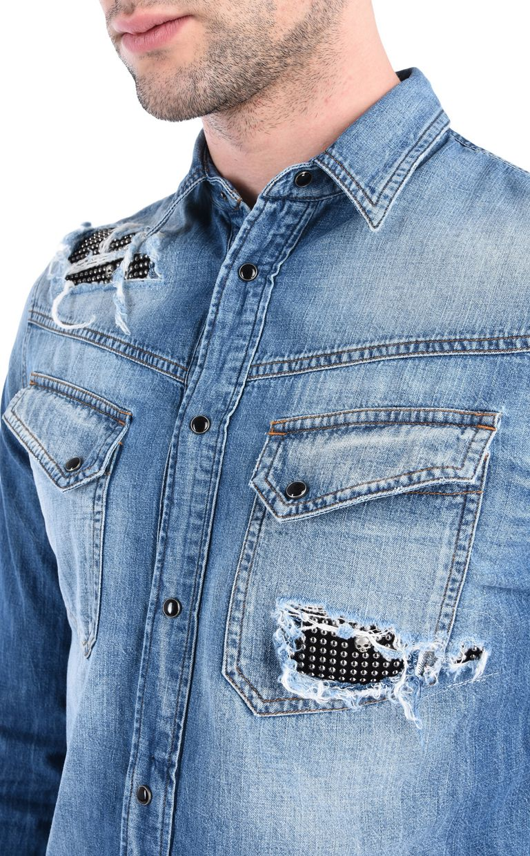 JUST CAVALLI Denim shirt Denim shirt [*** pickupInStoreShippingNotGuaranteed_info ***] e