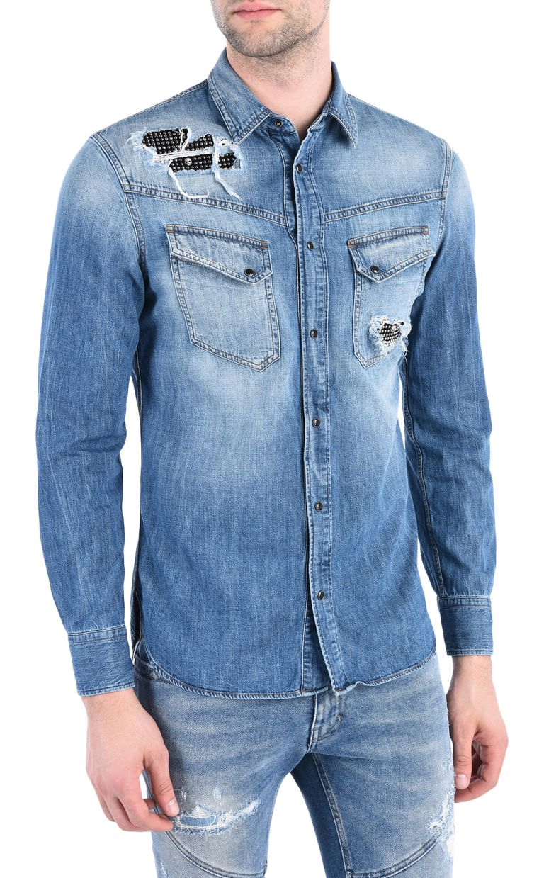 JUST CAVALLI Denim shirt Denim shirt [*** pickupInStoreShippingNotGuaranteed_info ***] f