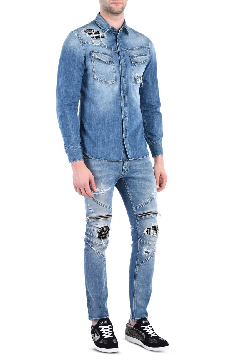 JUST CAVALLI Denim shirt Denim shirt [*** pickupInStoreShippingNotGuaranteed_info ***] r