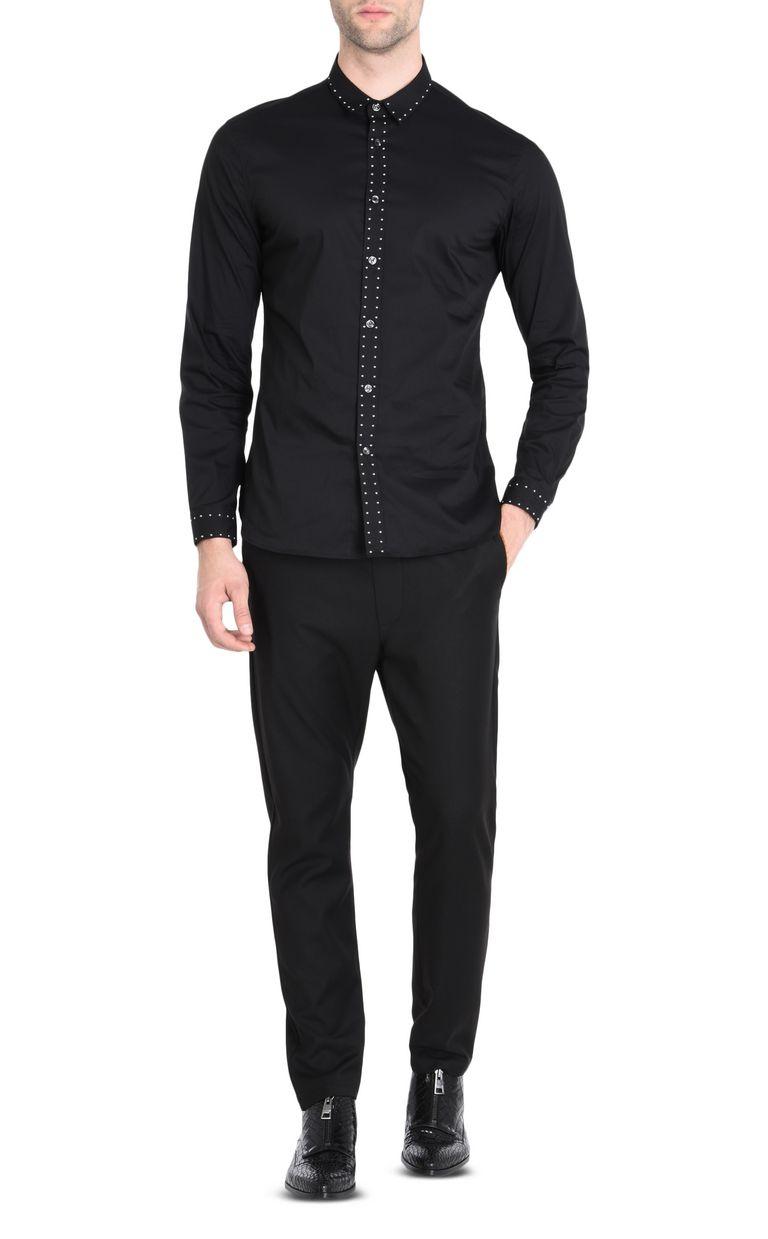 JUST CAVALLI Classic elegant shirt Long sleeve shirt [*** pickupInStoreShippingNotGuaranteed_info ***] r