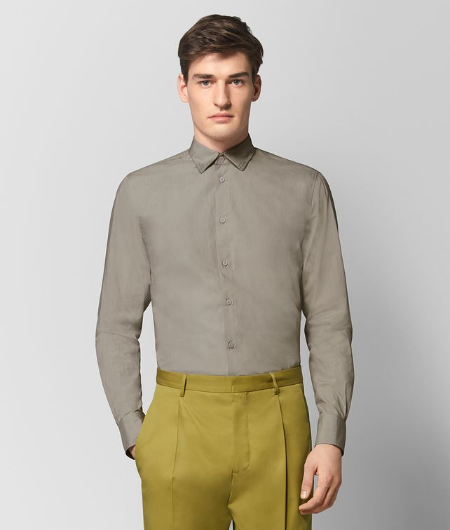 BOTTEGA VENETA DARK CEMENT COTTON SHIRT Shirt Man fp