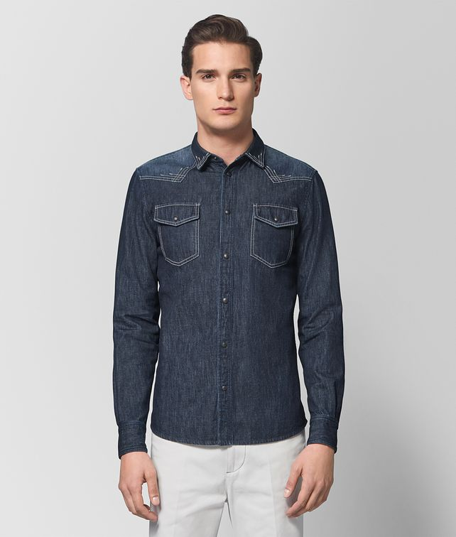 BOTTEGA VENETA DARK NAVY DENIM SHIRT Shirt [*** pickupInStoreShippingNotGuaranteed_info ***] fp