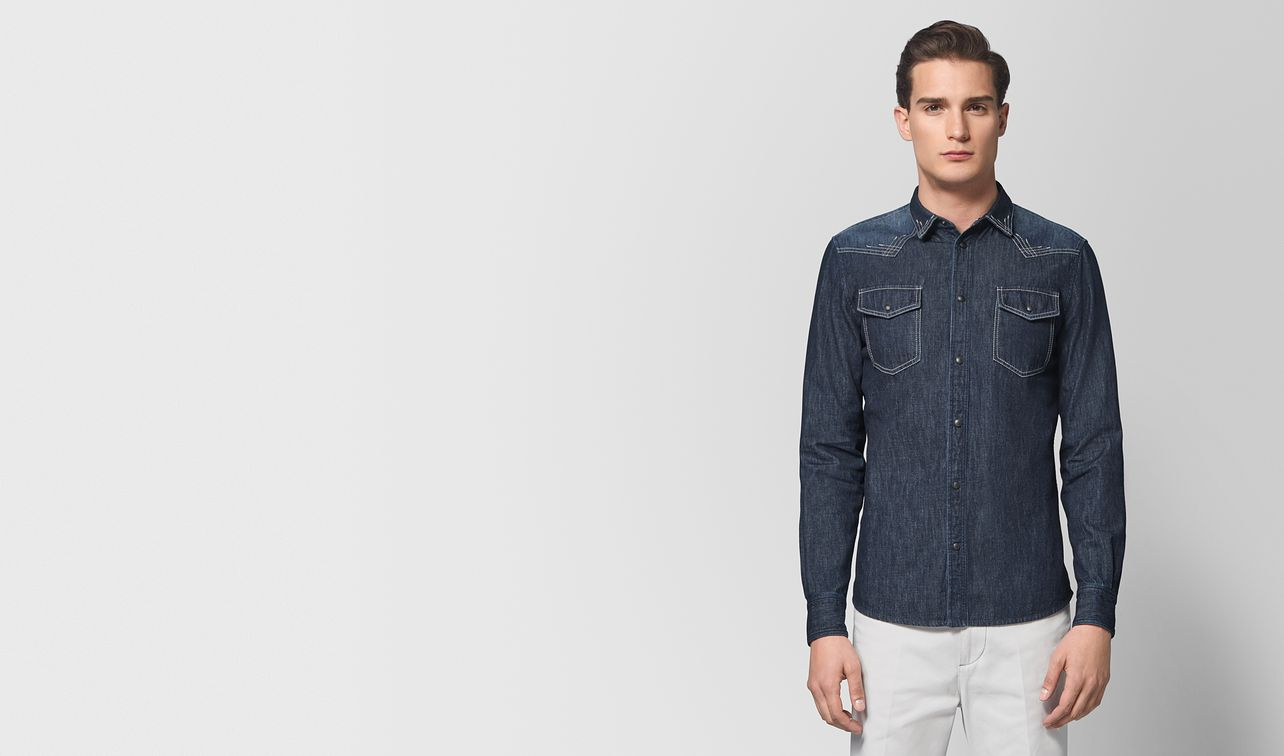 dark navy denim shirt landing