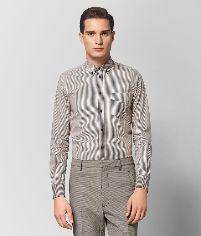 BOTTEGA VENETA MIST/NERO COTTON SHIRT Shirt Man fp