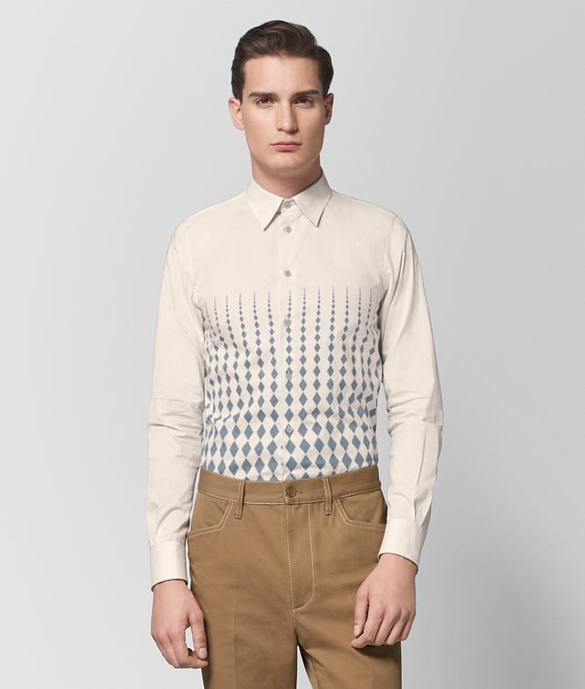 BOTTEGA VENETA MIST/DARK ARCTIC COTTON SHIRT Shirt Man fp