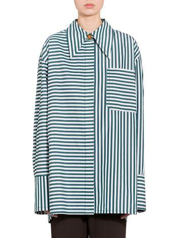 Marni Striped poplin shirt Woman