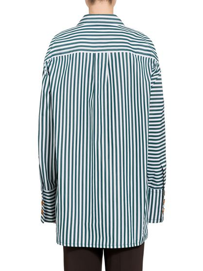 aa3e3825a MARNI Camisa de manga larga Mujer Camisa de popelina a rayas f