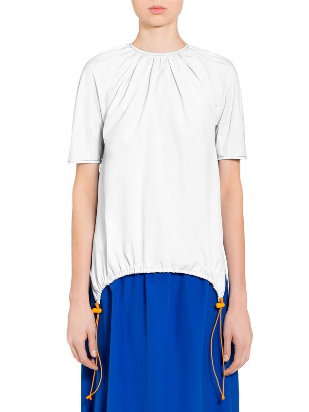 Marni Poplin crew neck shirt Woman - 1