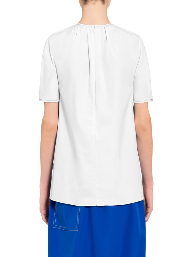 Marni Poplin crew neck shirt Woman - 3