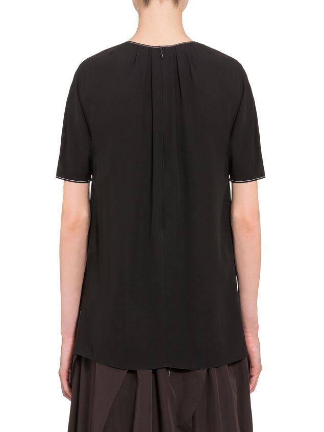 Marni Crepe-back satin short-sleeved shirt Woman
