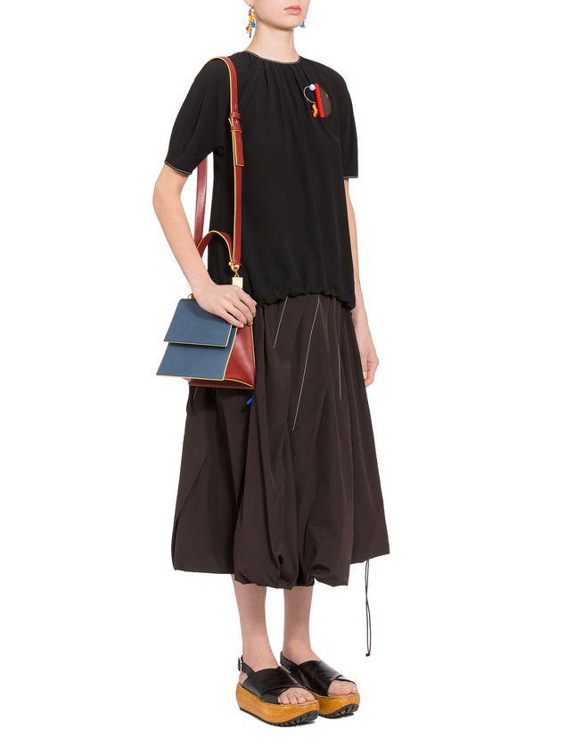 Marni Crepe-back satin short-sleeved shirt Woman - 4