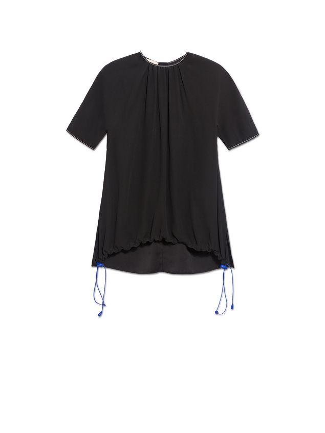 Marni Crepe-back satin short-sleeved shirt Woman - 2