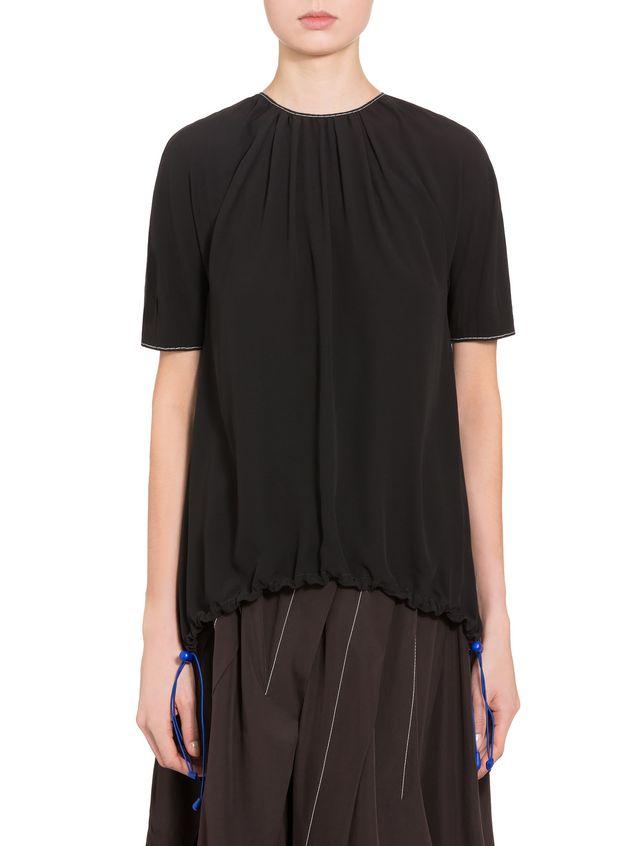 Marni Crepe-back satin short-sleeved shirt Woman - 1