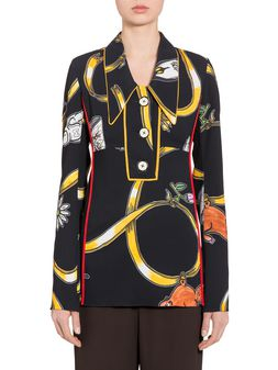Marni Viscose shirt with Frank Navin Cracker Jacks print Woman