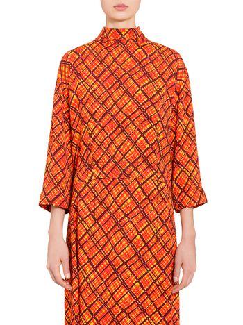 Marni Viscose shirt with tartan print Woman