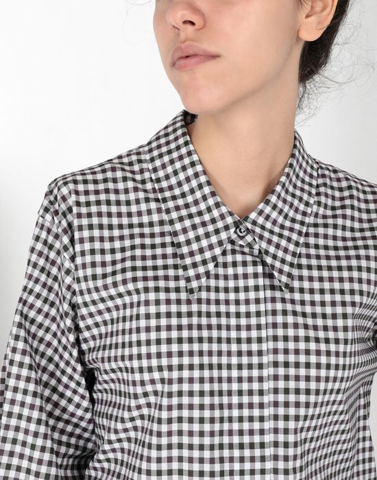 MM6 MAISON MARGIELA Checked shirt with flared sleeves Long sleeve shirt [*** pickupInStoreShipping_info ***] a