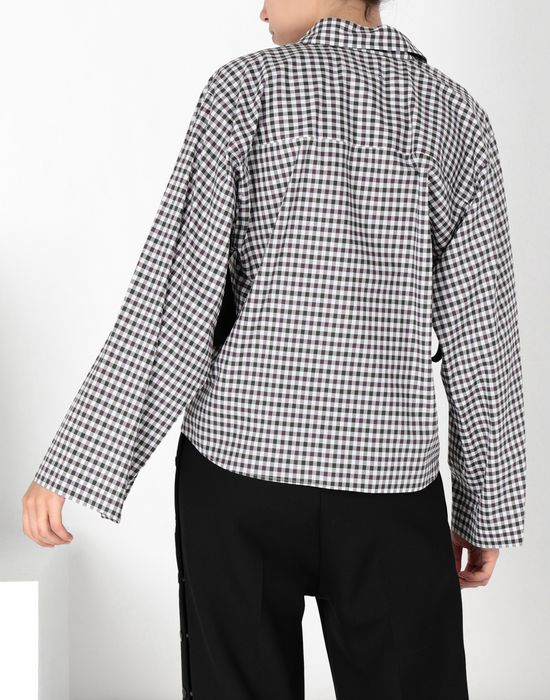 MM6 MAISON MARGIELA Checked shirt with flared sleeves Long sleeve shirt [*** pickupInStoreShipping_info ***] d