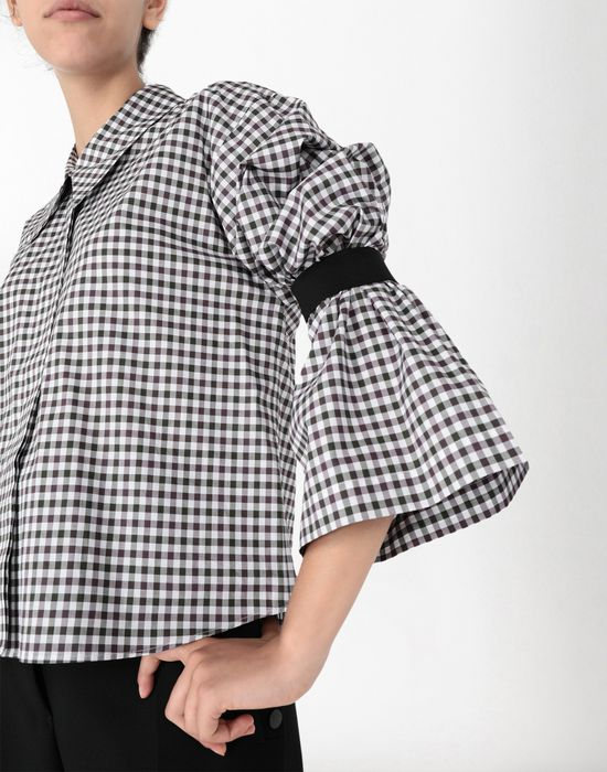 MM6 MAISON MARGIELA Checked shirt with flared sleeves Long sleeve shirt [*** pickupInStoreShipping_info ***] e