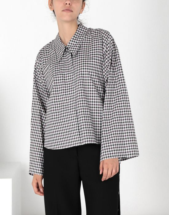 MM6 MAISON MARGIELA Checked shirt with flared sleeves Long sleeve shirt [*** pickupInStoreShipping_info ***] f