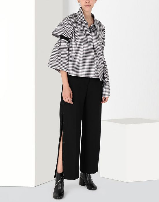 MM6 MAISON MARGIELA Checked shirt with flared sleeves Long sleeve shirt [*** pickupInStoreShipping_info ***] r