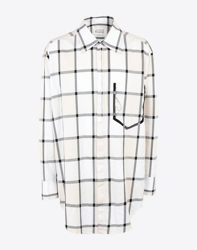 MAISON MARGIELA Long sleeve shirt Man Two-tone large checked T-shirt f