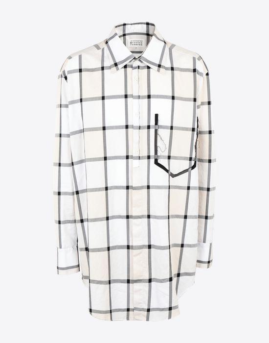 MAISON MARGIELA Décortiqué pocket check shirt Long sleeve shirt [*** pickupInStoreShippingNotGuaranteed_info ***] f