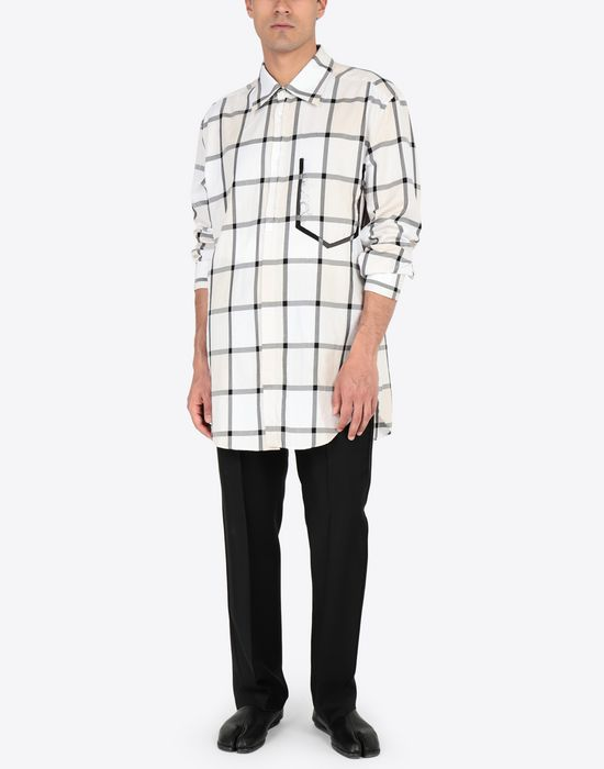MAISON MARGIELA Décortiqué pocket check shirt Long sleeve shirt [*** pickupInStoreShippingNotGuaranteed_info ***] r