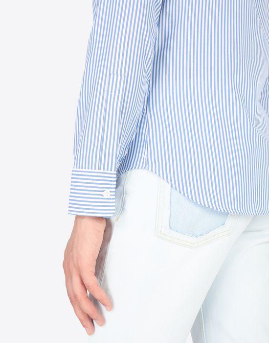 MAISON MARGIELA Slim fit poplin shirt Long sleeve shirt Man b