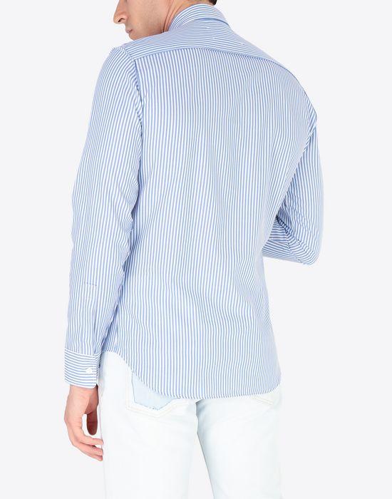 MAISON MARGIELA Slim fit poplin shirt Long sleeve shirt Man e