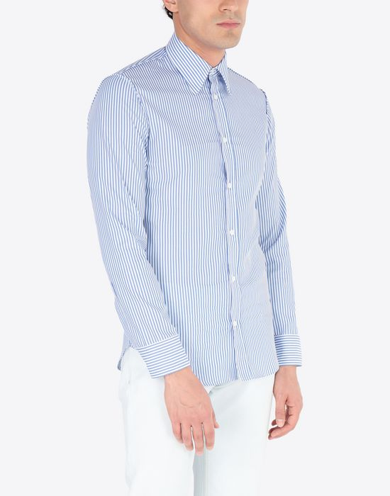 MAISON MARGIELA Slim fit poplin shirt Long sleeve shirt Man r