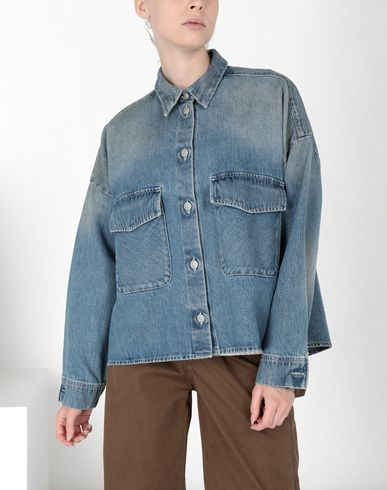 MM6 MAISON MARGIELA Denim shirt Woman Oversized denim shirt f