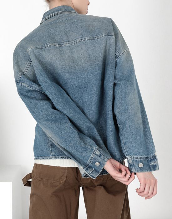 MM6 MAISON MARGIELA Oversized denim shirt Denim shirt [*** pickupInStoreShipping_info ***] d