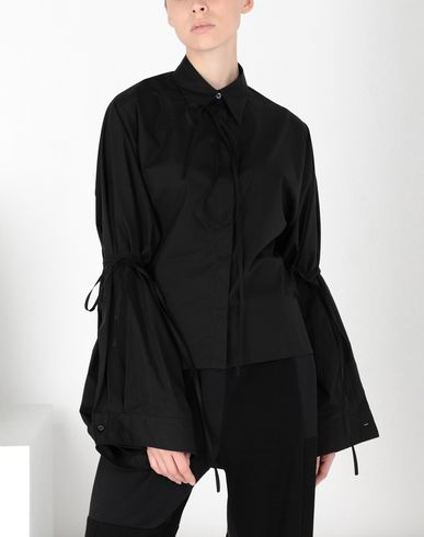 MM6 MAISON MARGIELA Long sleeve shirt Woman Parachute poplin tie shirt f