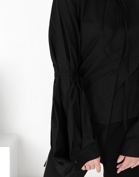 MM6 MAISON MARGIELA Parachute poplin tie shirt Long sleeve shirt [*** pickupInStoreShipping_info ***] a