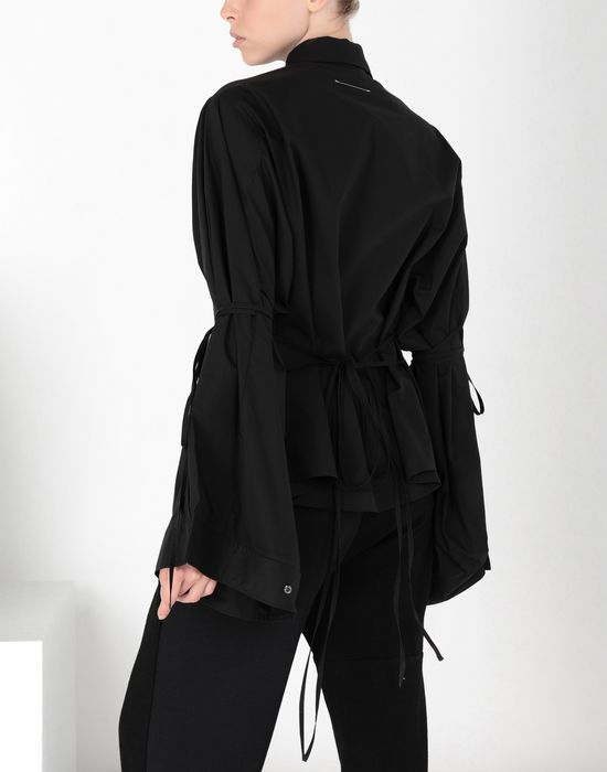MM6 MAISON MARGIELA Parachute poplin tie shirt Long sleeve shirt [*** pickupInStoreShipping_info ***] d