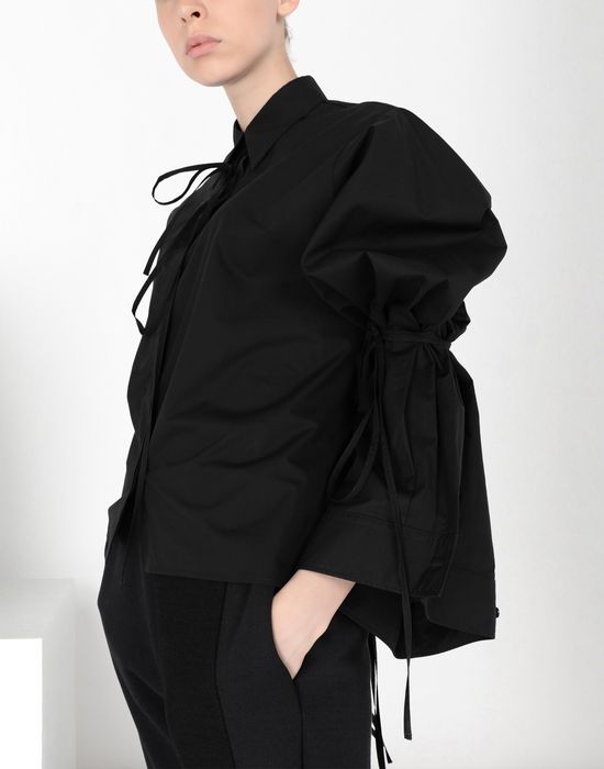 MM6 MAISON MARGIELA Parachute poplin tie shirt Long sleeve shirt [*** pickupInStoreShipping_info ***] e
