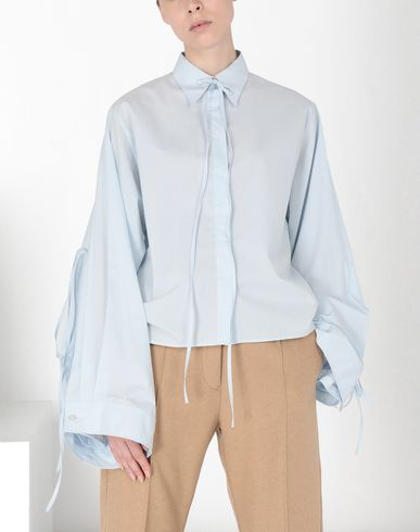 MM6 MAISON MARGIELA Parachute poplin tie shirt Long sleeve shirt [*** pickupInStoreShipping_info ***] f