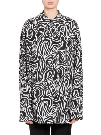 Marni Wood print shirt in poplin  Woman