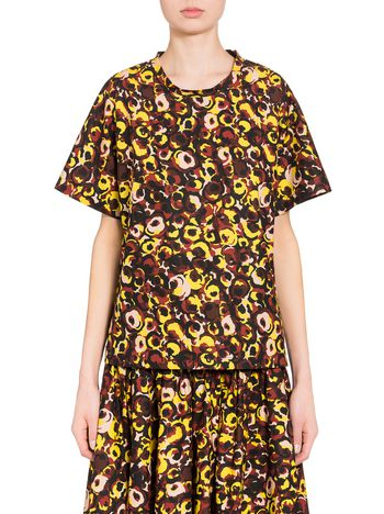 Marni Marken print shirt in poplin  Woman