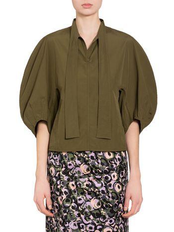 Marni Cotton poplin blouse with bow closure Woman