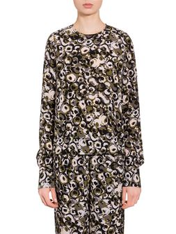 Marni Marken print shirt in silk crepe  Woman