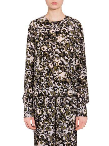 Marni Marken print shirt in silk crepe  Woman