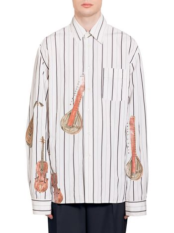 Marni Shirt in degraded poplin print by Frank Navin Man