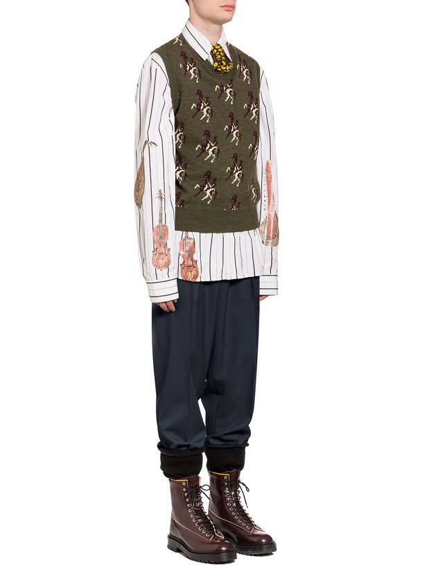 Marni Shaded poplin shirt with print by Frank Navin Man - 4