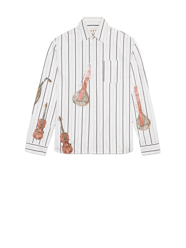 Marni Shaded poplin shirt with print by Frank Navin Man - 2