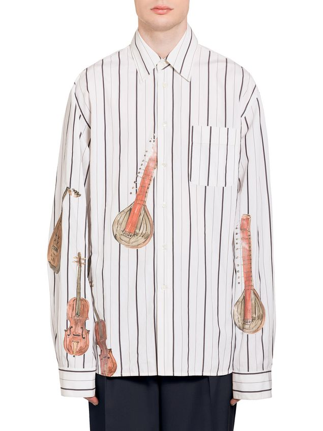 Marni Shaded poplin shirt with print by Frank Navin Man - 1