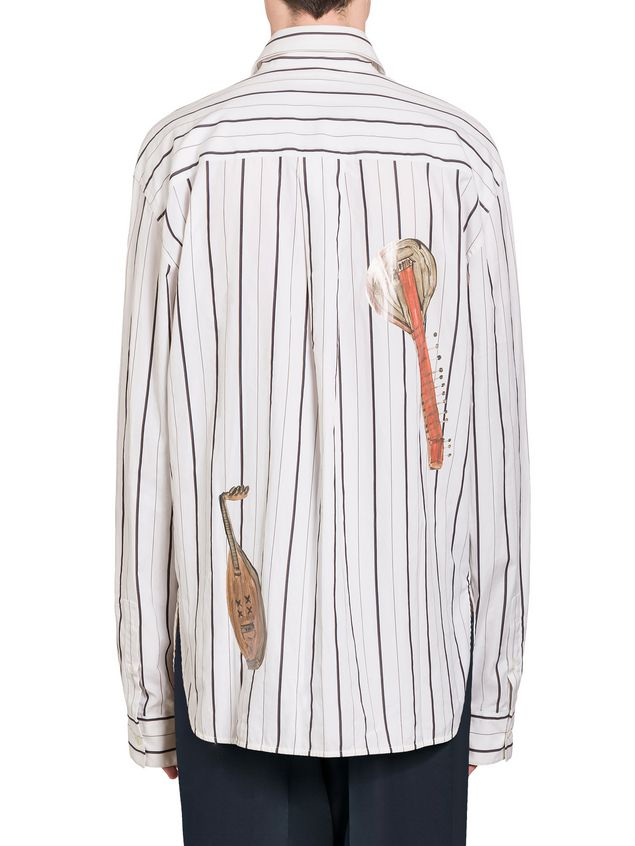 Marni Shaded poplin shirt with print by Frank Navin Man - 3