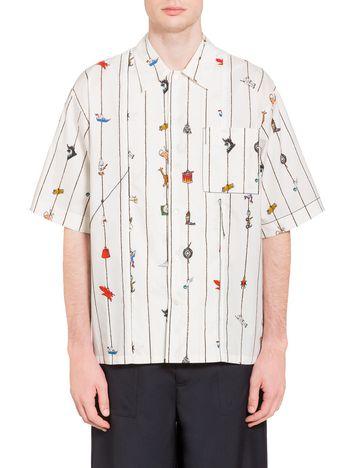 Marni Shirt in poplin Cracker print by Frank Navin   Man