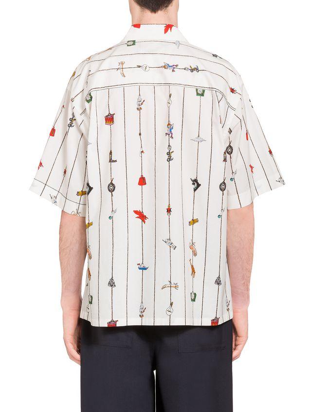 Marni Poplin shirt with Cracker print by Frank Navin Man